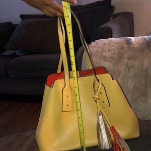 aldo mustard color handbag brand new